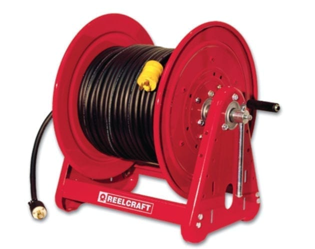 Reelcraft H19000 Medium Duty Hand Crank Reel 100 Air//Water Hose Not Included